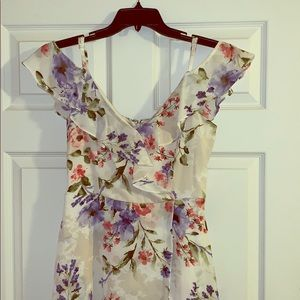 Size 5 floral romper/dress combo